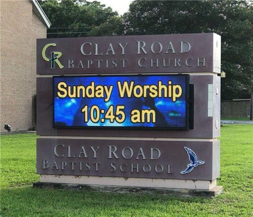 outdoor church led signs