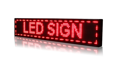 programmable scrolling led signs
