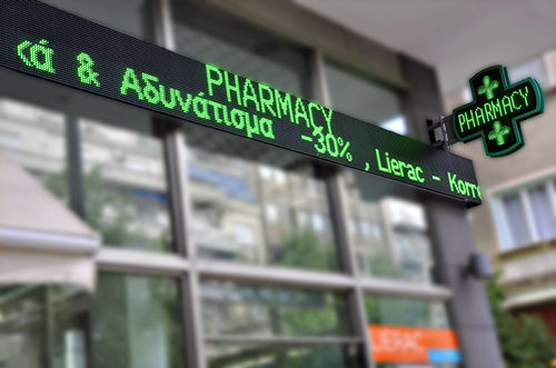 led pharmacy signs