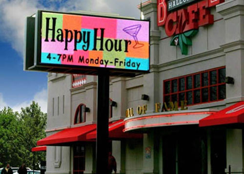 outdoor led signs Boston